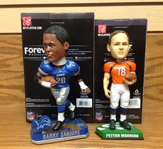Barry Sanders and Peyton Manning Bobblehead Set 1a7f708ab