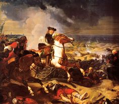 """""""Marshal de Turenne"""" at the battle of the Dunes is conducting an allied army (French, English and Dutch) against spanish Tercios."""