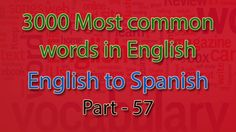 English to Spanish | 2801-2850 Most Common Words in English | Words Star...