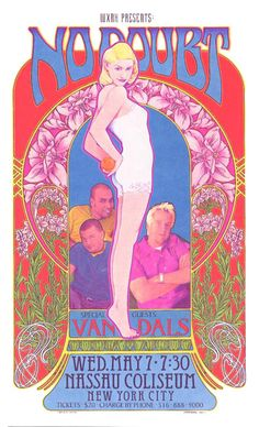 No Doubt 5/7/97 NY Special Limited Edition Poster Print