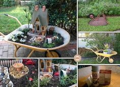 http://theownerbuildernetwork.co/easy-diy-projects/diy-wheelbarrow-fairy-garden/       diy-wheelbarrow-fairy-garden
