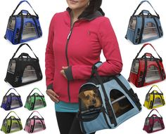 OxGord Pet Carrier Soft Sided Dog Comfort Travel Tote Bag Airline Approved