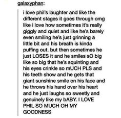 awwwww true my baby phil is adorable i love him