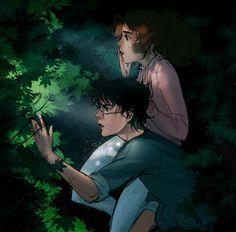 Hermione and Harry by Aloira.deviantart.com on @DeviantArt