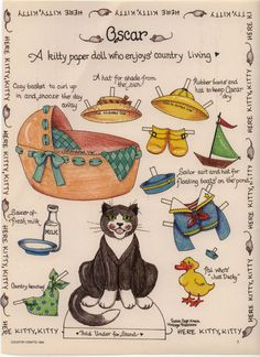 Oscar the cat paper doll ..............   ................................♥...Nims...♥