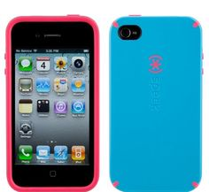 Speck Products Candyshell Case Series for Apple Iphone 4 (Att Only) Light Blue / Pink