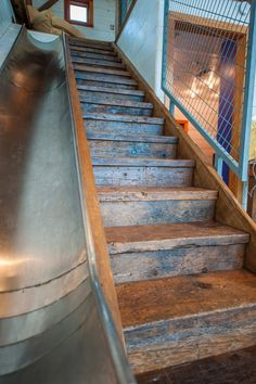 The rustic stairs are amazing. And of course I like the slide too!