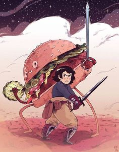 """""""Hamburger Prince"""" by Kyle Fewell* • Blog/Website   (www.kyle-fewell.com) • Online Store   (https://www.society6.com/kylefewell) ★    CHARACTER DESIGN REFERENCES (https://www.facebook.com/CharacterDesignReferences & https://www.pinterest.com/characterdesigh) • Love Character Design? Join the #CDChallenge (link→ https://www.facebook.com/groups/CharacterDesignChallenge) Share your unique vision of a theme, promote your art in a community of over 30.000 artists!    ★"""