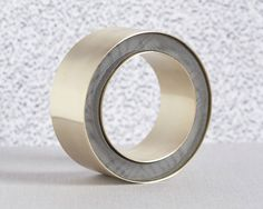 Thanh-Truc Nguyen Bracelet: Untitled Powder coated stainless steel, gold-plated brass 9 x 9 x 4 cm