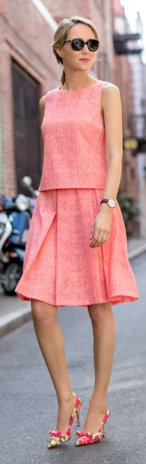 Spring Bowed Pumps Inspiration Outfit