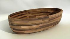 Wooden oval bathtub MACTAN MICHOR
