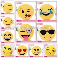 2016 Hot Selling 35cm PP Cotton Emoticon Plush Custom Whatsapp Emoji Pillow