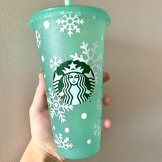 Personalized Starbucks Seasonal Cold Cup Venti Cold | Etsy Starbucks Coffee, Hot Coffee, Coffee Cups, Seafoam Green Color, Sea Foam, Personalized Gifts, How To Apply, Cold, Prints