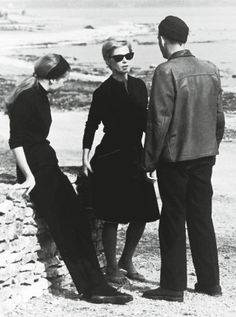 Ingmar Bergman on the set of Persona with Bibi Andersson and Liv Ullmann.