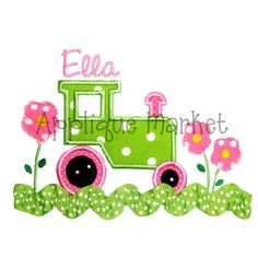 Machine Embroidery Design Applique Tractor with by tmmdesigns, $4.00