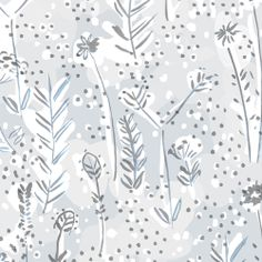 Winter Floral - Pattern designed by Emily Isabella.