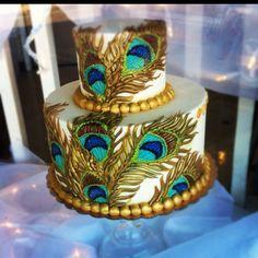 Peacock cake. love love love!