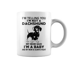 Dachshund Mug - dachshund puppies memes, dachshund puppies care, dachshund puppies piebald #waneonshirts #xmasgifts fathersdaygifts #mothersdaygifts #NewLife #Male #Female #Apparel #Ephesians #Gospel #Bible #Cheap #Power #Strong