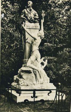 286 Wien I., Anton Bruckner-Denkmal I'm Stadtpark 4542 Anton, Vintage Postcards, Urban Park, Vintage Travel Postcards