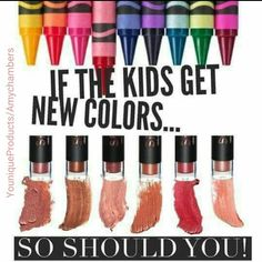If the kids get new colors.. So should You!  Younique Splash Liquid Lipsticks  in 6 trendy Metallic shades !! Available 9. 1. 17  Click pic to shop my website.. Younique/Products/AmyChambers