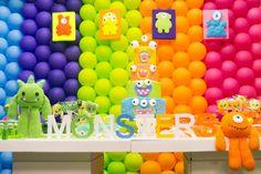 Monster Birthday Party Theme Kids Girl Boy Neon
