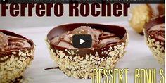 Ferrero Rocher Chocolate Dessert Bowls – Fully Edible | My Cupcake Addiction