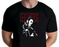 Elvis Presley - NBC Comeback shirt Design by graphic artist Jarod Available from www.rocknprint.nl