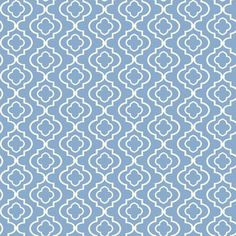 """York Wallcoverings Kitchen and Bath 33' x 20.5"""" Trellis Smooth Wallpaper Color: Blue / White"""
