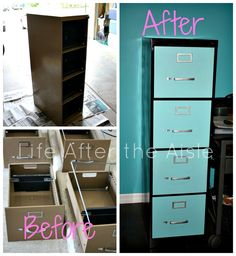 Life After the Aisle: DIY Filing Cabinet Redo