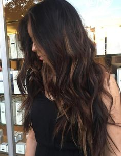 Long hair with subtle caramel balayage long brunette hair, subtle balay Ombre Hair Color, Cool Hair Color, Brown Hair Colors, Brown Hair Balayage, Hair Color Balayage, Bronde Balayage, Caramel Balayage Brunette, Caramel Ombre Hair, Hair Color Caramel Highlights