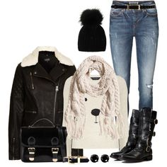 Matching Sweater and Scarf, created by angela-windsor on Polyvore