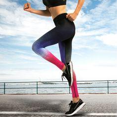 Supreme Sexy Leggings Women Fitness Space Pattern Leggins Active Sportwear Pants Legging Workout Slim Trousers