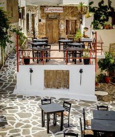 restaurant in  Naxos Island, Greece