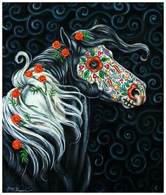 dia de los muertos horse
