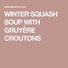 Butternut squash, Butternut squash soup and Squash soup on Pinterest