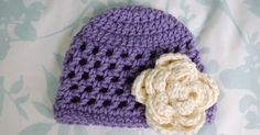 Premie size here .  3 month size here .  6 month size here .   This hat forms a great base for some fabulous accessories - crochet flower...