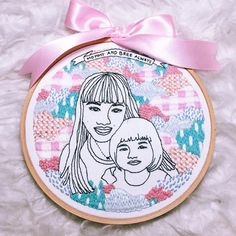 Embroidered portraits by Teresa Lim #embroidery #handembroidery #embroideredportraits #hoopart