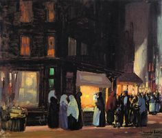 Bleeker and Carmine Streets, 1915, George Luks