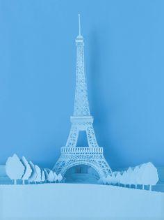 The Art of Paper Cutting Art Crafts 3d Paper, Origami Paper, Paper Crafts, Kirigami, Up Book, Book Art, Paris Monuments, Paper Magic, Cardboard Art