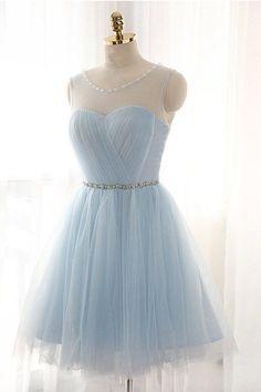 Charming Tulle Prom Dresses Short/Mini Graduation Dress Homecoming Dresses
