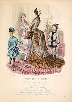 Fashion Plate - Revue de la mode, Gazette de la Famille, 1876