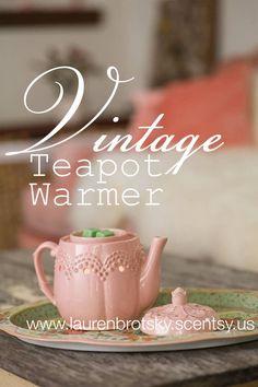 Scentsy Vintage Teapot Warmer www.laurenbrotsky.scentsy.us