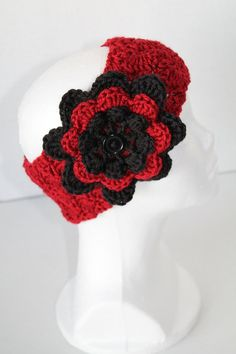 Autumn Red Simply Soft Earwarmer/Headband with by SnugableTouches, $10.00