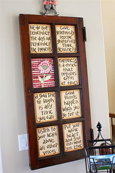 Great way to display a few of your favorite quotes... love this idea!