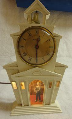 Church Clock and Night Light by Mastercrafters Clock and Radio Company. $69.00, via Etsy.