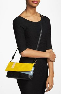 POVERTY FLATS by rian Colorblock Flap Clutch   Nordstrom