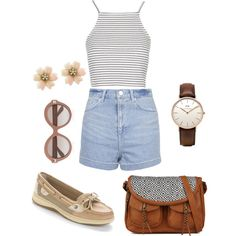 Untitled #38 by yasmeenf on Polyvore featuring polyvore, fashion, style, Topshop, Sperry Top-Sider, Daniel Wellington and Valentino
