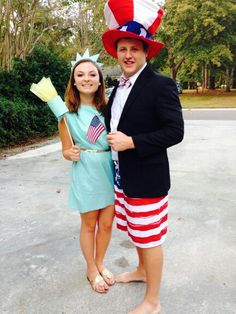 DIY lady liberty and uncle sam costume