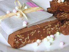 CAJITAS DE GALLETAS: Turrón de chocolate tipo Suchard