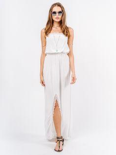 Indah 'Paige Maxi Dress Ivory' Shop Splash www.shopsplash.com